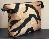 Zebra travel case, large, proceeds to charity, dopp kit, safari, clutch, Africa, zippered pouch