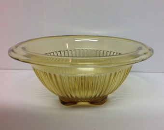Federal glass amber bowl