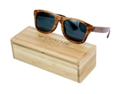100% Hand Made Wood Sunglasses Made from Rosewood. Each Pair is Unique Because No two Pieces of Wood Are the Same.