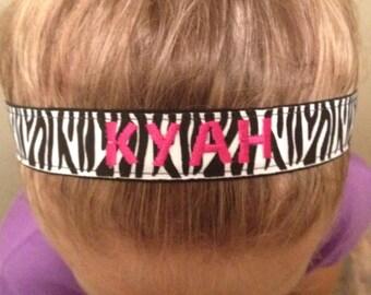 No Slip ZEBRA Headband