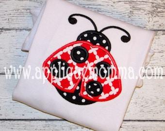Ladybug Applique Design