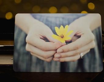 Yellow flower fine art postcard