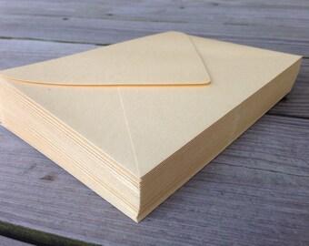 50 A7 Gold Shimmer Envelope 5x7 Paper Source Euro Flap Wedding Invitation Envelopes
