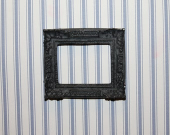 DOLLHOUSE MINIATURE Picture Frame, Black