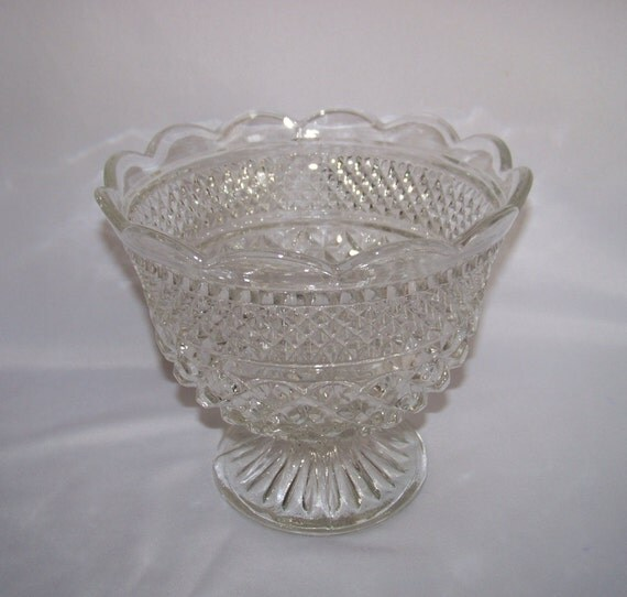 Anchor hocking wexford footed centerpiece bowl compote by onlygot1 - Footed bowl centerpiece ...