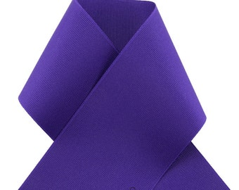 "3"" DEEP PURPLE / Regal Purple GROSGRAIN Ribbon - Select Amount of Yards - 3-inch Width - Great for Bows"
