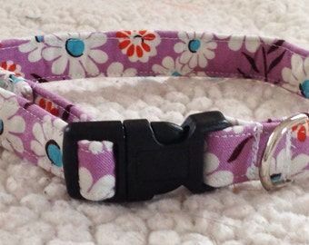 Purple Daisy Collar for Girl Dog or Cat