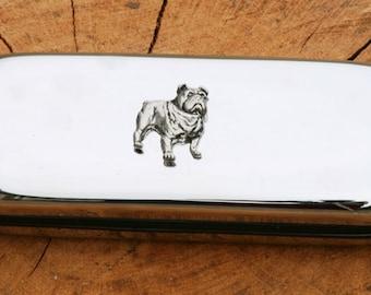 British Bulldog Metal Pen Case & Ball Point Set Gift FREE ENGRAVING