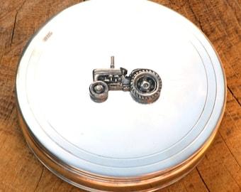 TE20 Vintage Tractor Trinket Jewelry Box Ladies Farming Gift