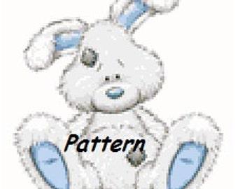 Cute little rabbit. Cross Stitch Pattern. PDF Files.