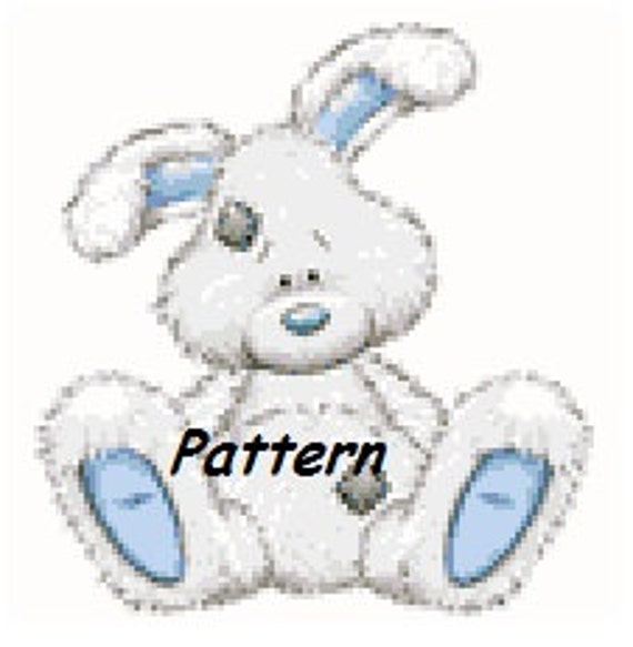 Cute little rabbit. Cross Stitch Pattern. PDF Files.