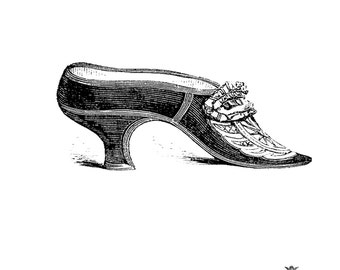 Vintage French Shoe,  Vintage shoe temp tattoo, shoe tattoo, Body Art, Wickedly Lovely Skin Art Temporary Tattoo