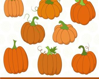 Hand Drawn Vector Pumpkins Clip Art - Pumpkin Clipart, Pumpkin Clip Art, Pumpking Vectors, Fall Clip Art, Thanksgiving Clip Art