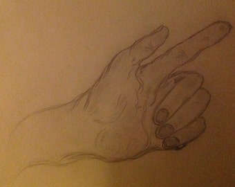 """OOAK Drawing """"Hands"""""""