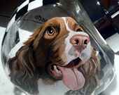 CUSTOM -  hand painted 1/2 Gallon Pet Portrait Treat Jar™