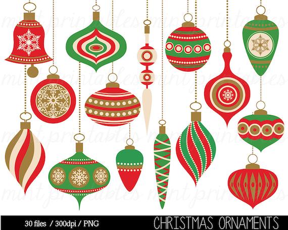 Christmas Clipart Christmas Decoration Ornament Balls Hanging