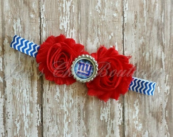 New York Giants chevron elastic infant, toddler, or adult headband