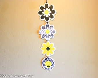 Bee Classroom Hanging flowers / bees themed decor -  birthday
