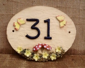 House numbers, house number plaque, ceramic address plaque, custom made door numbers.