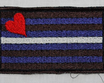 Leather Pride Flag embroidered patch