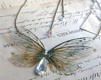 Beautiful double faerie winged head piece