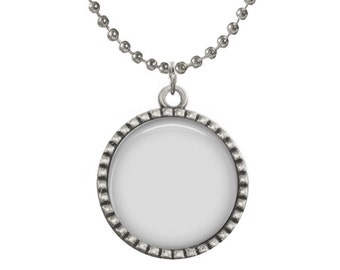 Digital Photo Template for Antique Silver Round pendant setting with ball chain. No graphics tool needed. Ask me How.  417