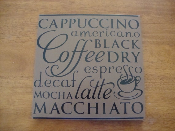Custom Coffee Home Decor Sign By DeannasCraftCottage On Etsy