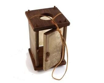 Wooden Medieval Lantern with a door