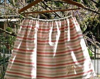 multicolor stripes skirt