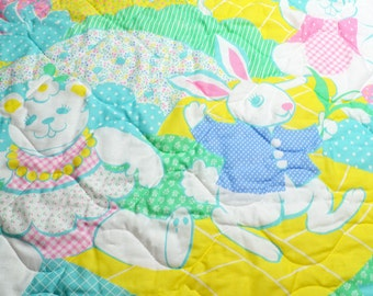 Baby Quilt Bunny Squirrel Teddy Bear Mouse Baby Bedding