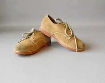 Vintage Childrens Suede Oxfords Size 10