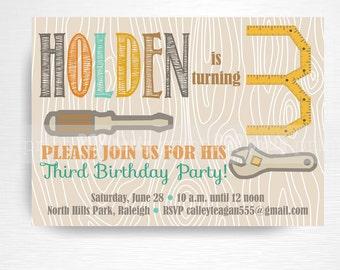 Tools Party Printable Invitation YOU Print