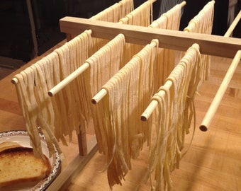 Hardwood Pasta Drying Rack - Designed to work with KitchenAid Pasta Roller - Handcrafted in Arizona - Free Shipping to any USA address