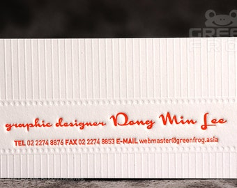 FREE Shipping : 100 Custom Letterpress Business Cards