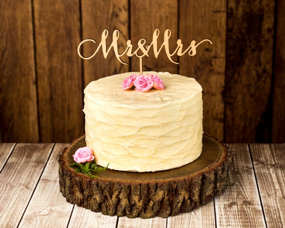 wooden wedding cake toppers items similar to wedding cake topper mr and mrs birch 1488
