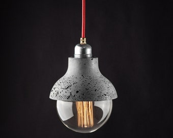 M422 - Pendant Lightweight Concrete Lamp