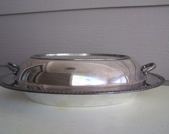 Vintage Rogers Silverplate Double Covered Serving Dish(es)