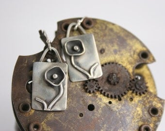 Sterling Silver Earrings - Funky