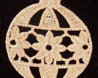 FSL Embroidered Ornament   Christmas Ornament  Lace Ornament
