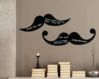 Mustache (Set of 2) Blackboard Wall Decal