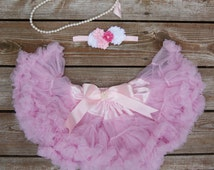 Baby pettiskirt. Tutu. Petti skirt. Girls first birthday. Baby girl photo prop. Lace petti. Baby girl birthday outfit.  Cake smash outfit.