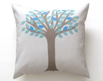 Tree Pillow Cover 16 inch, Decorative Throw Pillow Cover, Cushion Cover, Sham