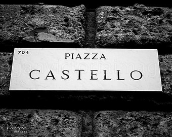 Piazza Castello's Street Sign in Milan, Italy - Fine Art Photography by Megan Victoria