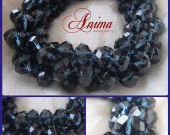 Crocheted Swarovski Crystals Bracelet