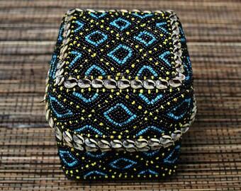 Sumatran Beaded Basket
