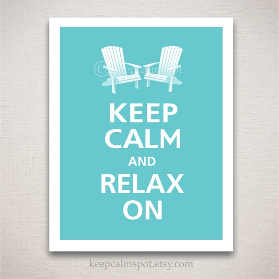 Items Similar To Keep Calm And Relax On Typography Art
