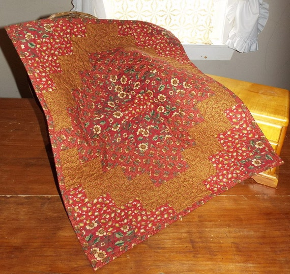 Madder Red Thimbleberries AG Doll Quilt