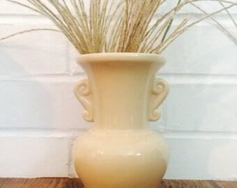 Vintage Scroll Vase