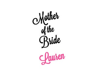 Bridesmaid, Maid of Honor, or Mother of the Bride Wine Glass Decal Only *DIY*