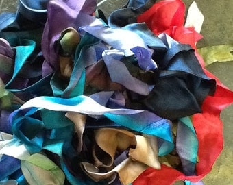 Over 15 yards of silk ribbons